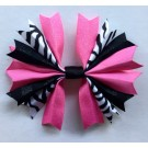 Bubblegum Zebra and Black Ponytail Holder