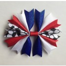 Royal Blue White and Red Ponytail Holder