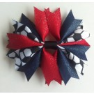 Red and Navy Ponytail Holder