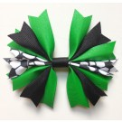 Emerald and Black Ponytail Holder