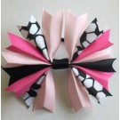 Baby Pink Bubblegum and Black Ponytail Holder