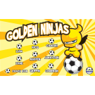 Golden Ninjas Custom Vinyl Banner