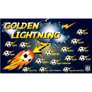 Golden Lightning Custom Vinyl Banner