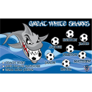 Great White Sharks Custom Vinyl Banner