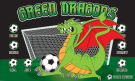 Green Dragons 1 Custom Vinyl Banner