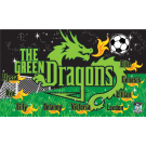 The Green Dragons Custom Vinyl Banner
