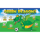 Green Dragons (Fun) Custom Vinyl Banner