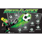 Green Flames Custom Vinyl Banner