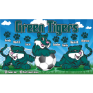 Green Tigers Custom Vinyl Banner