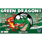 Green Dragons Custom Vinyl Banner