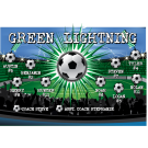 Green Lightning 1 Custom Vinyl Banner