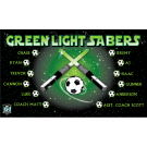 Green Lightsabers Custom Vinyl Banner