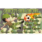 Green Soldiers Custom Vinyl Banner