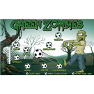 Green Zombies Custom Vinyl Banner