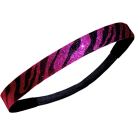 Custom Glitter Headband - Pink & Black Zebra