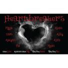 Heartbreakers Custom Vinyl Banner