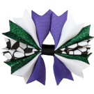Purple & Hunter Green Ponytail Holder