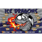 Ice Dragons Custom Vinyl Banner