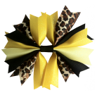 Leopard Black and Yellow Ponytail Holder