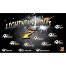 Lightning Bolts Custom Vinyl Banner