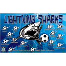 Lightning Sharks Custom Vinyl Banner