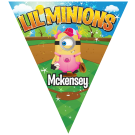Lil Minions Triangle Individual Team Pennant