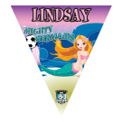 Mighty Mermaids Triangle Individual Team Pennant