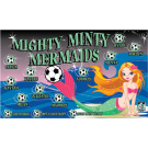 Mighty Minty Mermaids Custom Vinyl Banner