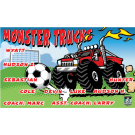 Monster Trucks Custom Vinyl Banner