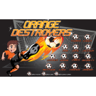 Orange Destroyers Custom Vinyl Banner