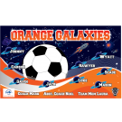 Orange Galaxies Custom Vinyl Banner