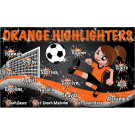 Orange Highlighters Custom Vinyl Banner