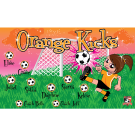 Orange Kicks Custom Vinyl Banner