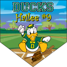 Ducks (Alternate Style) Home Plate Individual Team Pennant