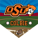Oso Cowboys Custom Home Plate Banner