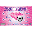 Pink Diamonds Custom Vinyl Banner