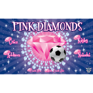 Pink Diamonds (Blue) Custom Vinyl Banner