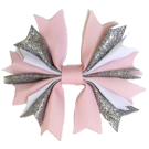 Pink & Silver Sparkles Ponytail Holder