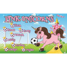 Pink Unicorns 3 Custom Vinyl Banner