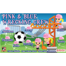 Pink & Blue Wrecking Crew Custom Vinyl Banner