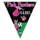 Pink Panthers Triangle Individual Team Pennant