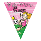 Pink Pixies Triangle Individual Team Pennant