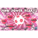 Pink Power Hearts Custom Vinyl Banner
