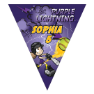 Purple Lightning Triangle Individual Team Pennant