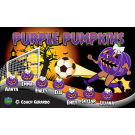 Purple Pumpkins Custom Vinyl Banner