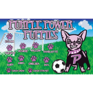 Purple Power Puppies Custom Vinyl Banner