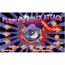 Purple and Black Attack Custom Vinyl Banner