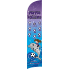 Purple Dolphins Custom Double-Sided Team Wind Flag