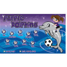 Purple Dolphins Custom Vinyl Banner