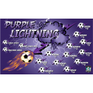 Purple Lightning 4 Custom Vinyl Banner